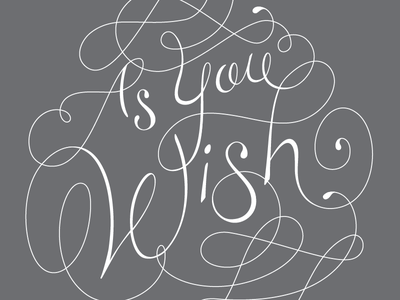 As you wish lettering illustrator