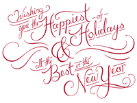 Happy Holidays Video Graphic