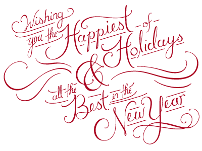 Happy Holidays Video Graphic hand lettering