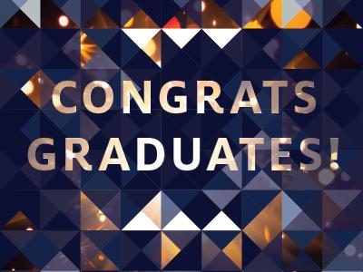 Congrats Graduates! pattern celebrate