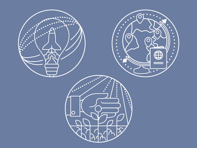 Icons for Student Engagement pictograms line art icons