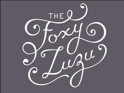 The Foxy Zuzu Logo lettering logo