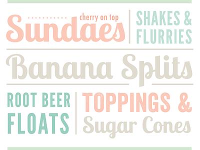 Mesa Frozen Yogurt cover typography