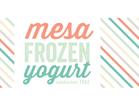 Mesa Frozen Yogurt Re-Brand WIP