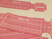 Cinema Ticket Birthday Invitation