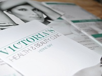 Victorias Health And Beauty Clinic brochure design