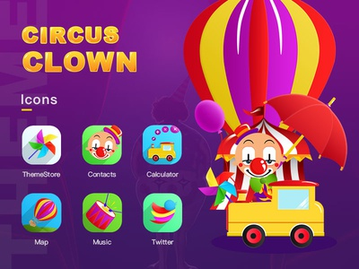 The theme of clown circus