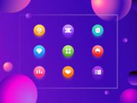 UI icon design- Crystal white style