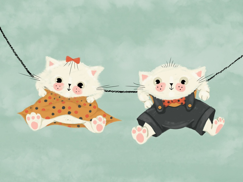 Welldressed kittens