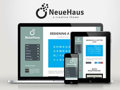 WP Neuehaus — Responsive Creative WordPress Theme wordpress creative responsive portfolio clean modern minimal