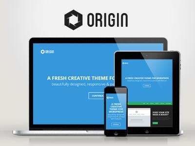 WP Origin — Responsive Creative WordPress Theme wordpress creative responsive portfolio clean modern minimal