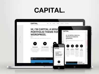 WP Capital — Responsive Creative WordPress Theme wordpress creative responsive portfolio clean modern minimal