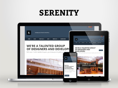 WP Serenity — Responsive Multipurpose Theme wordpress corporate creative ecommerce woocommerce responsive portfolio clean modern minimal