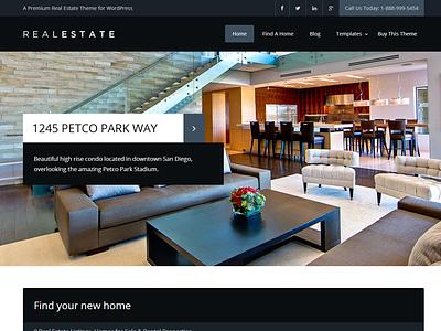 Real Estate Theme WIP wordpress wip modern flat slider dark