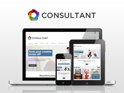 WP Consultant — Responsive Multipurpose Theme wordpress corporate responsive business ajax