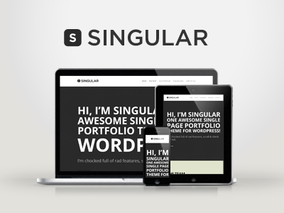WP Singular - One Page Responsive WordPress Theme wordpress creative responsive portfolio ajax single page