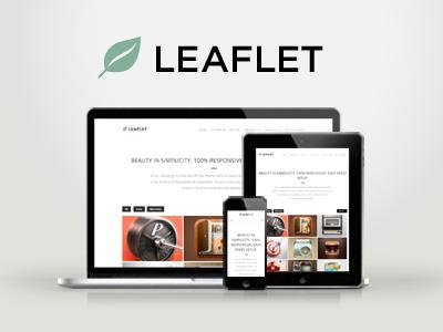 WP Leaflet - Responsive Multipurpose Theme wordpress creative responsive portfolio clean modern minimal