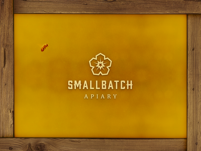 SmallBatch Apiary Logo honeybee designers designer designs star flower batch smallbatch small apiary honey bee hexagram honeycomb typography branding vector logo icon design
