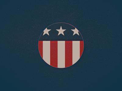 American Flag Badge flags circle illustration flag design badges patriot patriotic stars and stripes stripes stars vector icon design badge flag