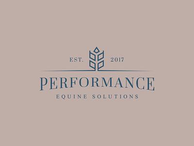 Performance Equine Solutions Logo equine performance illustration horse branding vector logo icon design