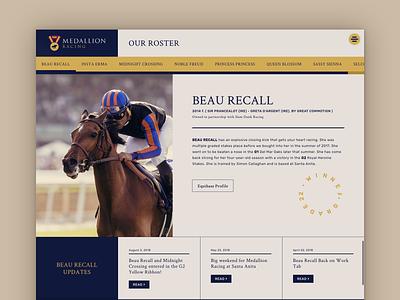 Website for Thoroughbred Racing Partnership html css css html horse racing thoroughbred web design website horse ui ux design