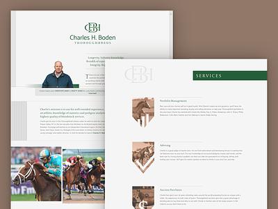 Website Design - Thoroughbred Bloodstock Agent css html css html website design web design website thoroughbred web horse ui ux horse racing branding design