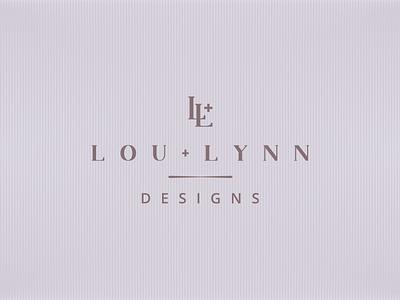 Lou + Lynn Designs | LOGO lynn lou typography icon branding vector logo design