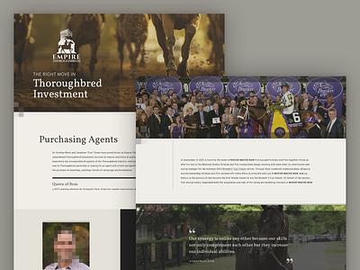 Empire Thoroughbreds | Website Design / Development website design web design website html html css css equine thoroughbred horse racing horse design