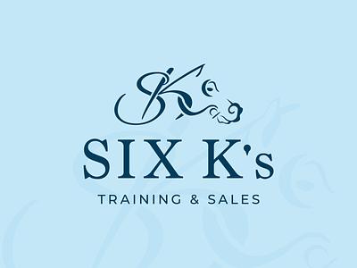 Six K's Training & Sales - Logo 2 sales training k six illustration equine horse logo thoroughbred horse horse racing branding vector icon logo design