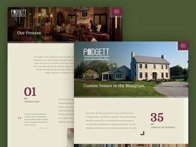 Padgett Construction Website Design