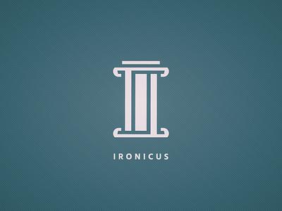 Ironicus Logo / Icon design branding vector identity monogram icons iconography stone marble pillar irony greek god greek ironicus illustrator icon logodesign logo
