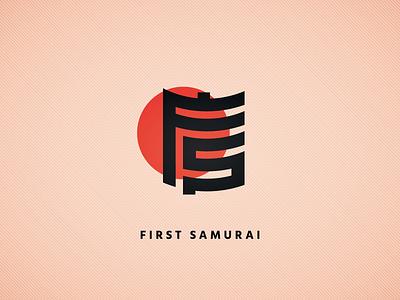 First Samurai Logo Icon lettermark monogram monogram logo typography illustration thoroughbred horse racing horse branding vector icon design logo
