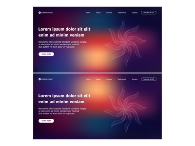 Website template design with Abstract Colorful Background