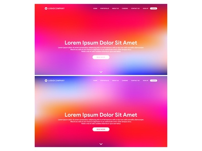 Landing Page with Gradient Mesh Colourfull