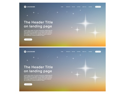 sunset star themed of landing page