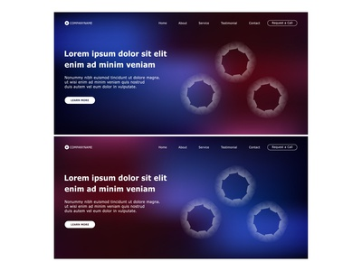 Landing Page Template with Abstract Colorful Background