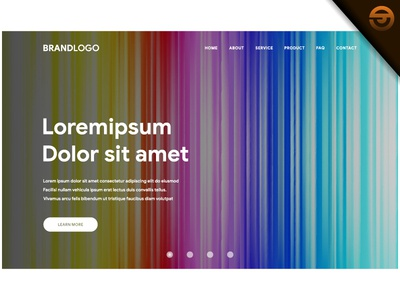 Website or landing page with Vibrant gradient background