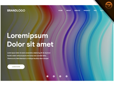 abstract wavy geometric background of website or landing page