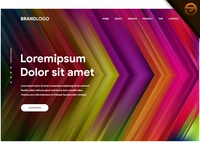 Website background template with abstract futuristic style