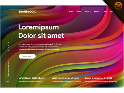 Rainbow Art Colorful background of Website or landing page