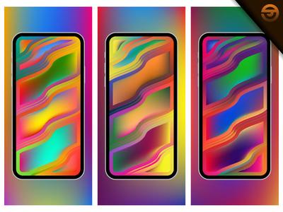 Futuristic or modern wallpaper design with Liquid Fluid shapes