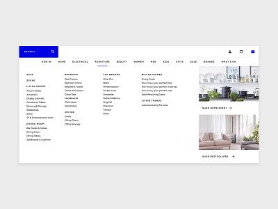 Mega Menu UI web ui ux digital digital design design