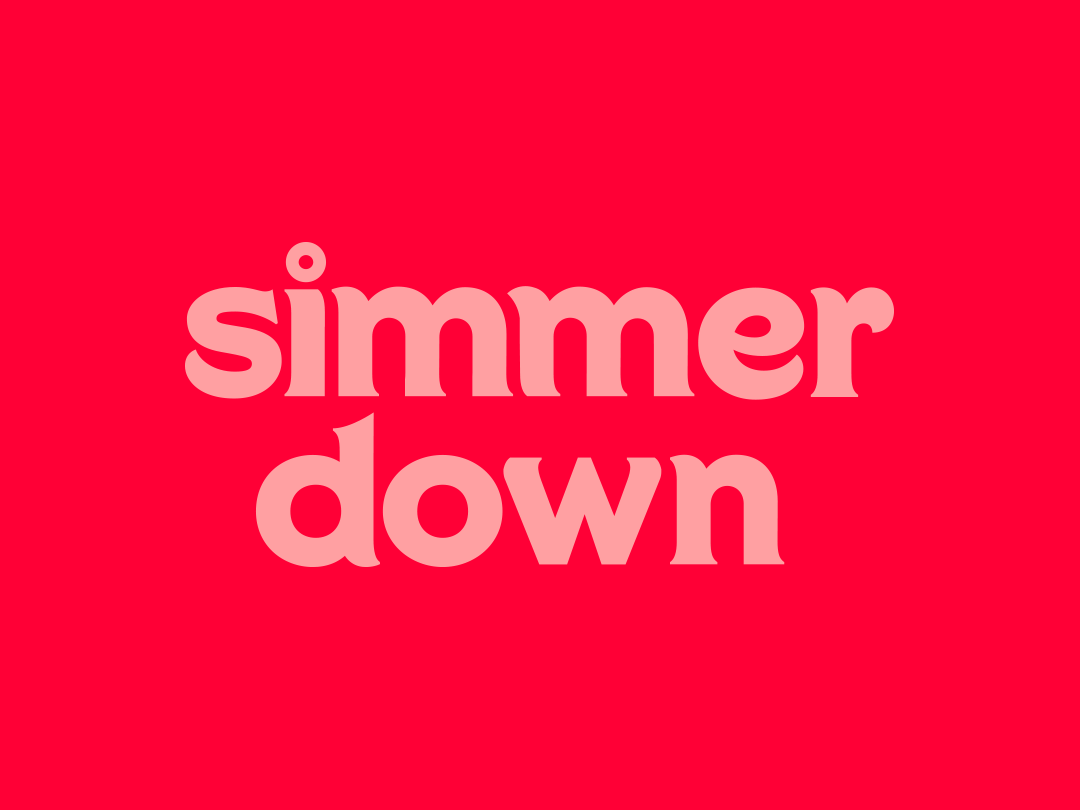 Simmer Down Logo typography type degress how to cook cooking mark design logo