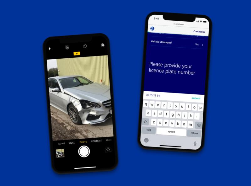 Report a claim customer portal conversational ui conversational ui ux visual design product design single page application