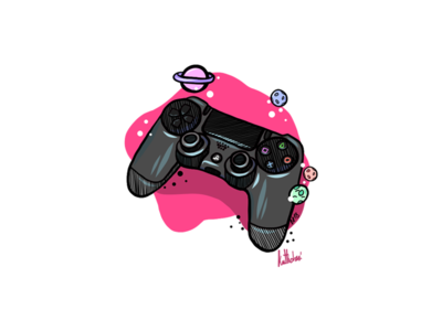 PS4 controller in the Space