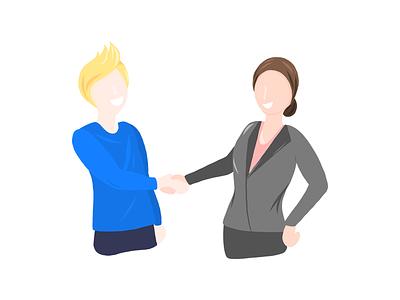 Shaking hands meeting job business shakinghands smile people human illustation