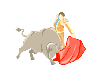 Matador spain people illustrationinspiration adobeillustrator illustrator matador motion bull illustration
