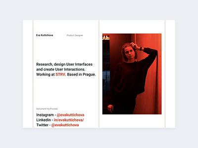Portfolio whitespace motion minimal red animation interaction folio personal website portfolio