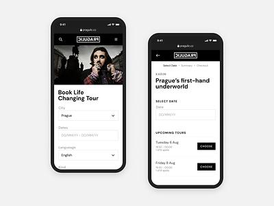 Pragulic Booking System 🌘 booking ixd booking web application web application minimal ui minimal design responsive web design booking app booking
