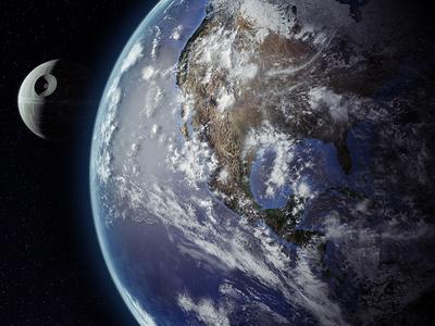 StarWars Weekends - Earth 3d styleframe vray cinema 4d death star star wars